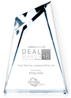 """Philip Ellis Awarded """"Deal Maker of The Year"""" Award by Finance Monthly Magazine"""